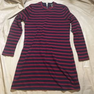 Navy and Red Striped Forever 21 Shirt